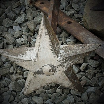Antique Large Cast Iron Architectural Stars With Rods - Tools and Hardware
