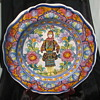 Hand (look at the hands) Painted Woman on Ceramic Platter-