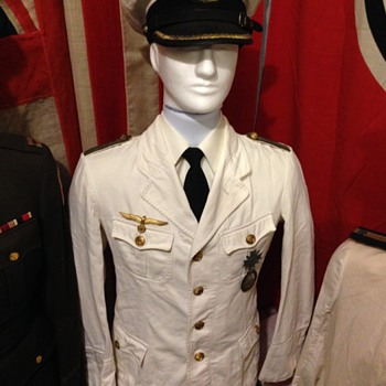 WWII German Kriegsmarine Summer white Officer Tunic  - Military and Wartime