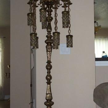 Brass Chandelier Lamp - Lamps