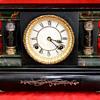 Antique Black Mantel Clock