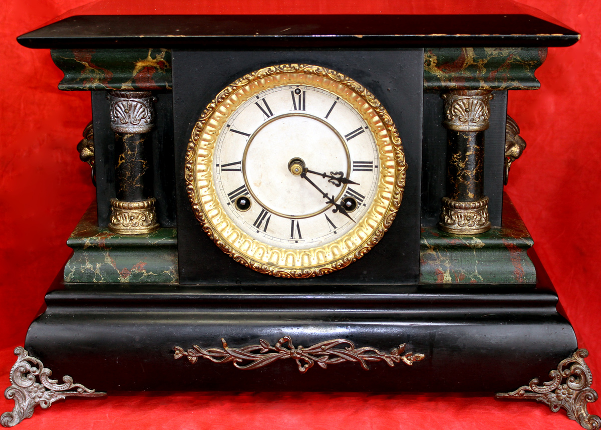 Antique Black Mantel Clock Collectors Weekly