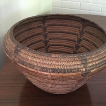 Native American Woven Basket - Native American