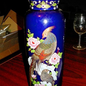 Chinese Hand-Painted Vase  - Asian