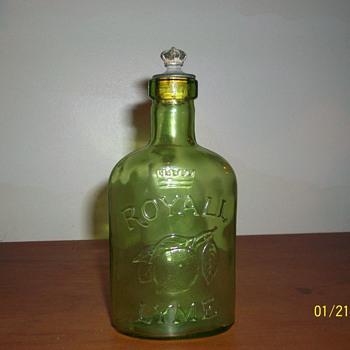Old Crown Royall Lyme bottle