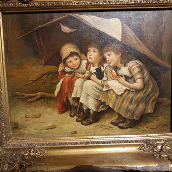 "Joseph Clark "" Three Little Kittens "" 1883 (reproduction 1884) - Fine Art"