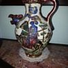 Bought in France, Wine pourer? Stunning ornate  Jousting scene- help!!!!??