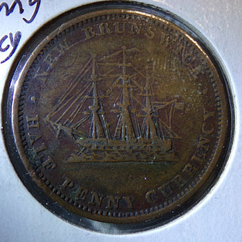 1854 New Brunswick Token - World Coins