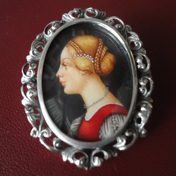 Victorian Portret brooch/pendant - Fine Jewelry