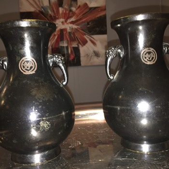 Pair of Urns - Asian