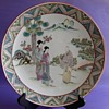 The Old Asian Porcelain Plate, Hand Painted Enamel, That Is Chinese or Japanese?