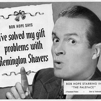 1948 - Bob Hope for Remington Shavers - Advertisement - Advertising