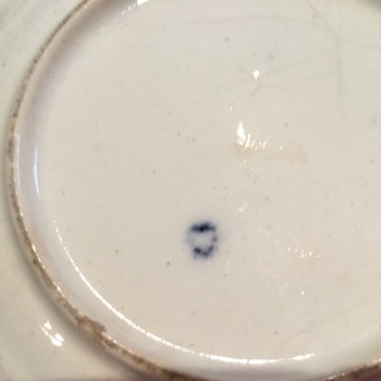 Blue and white cup and saucer - China and Dinnerware