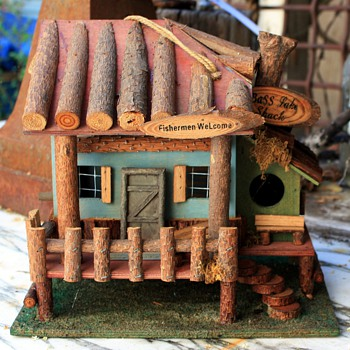 Three very cute little birdhouses... - Folk Art