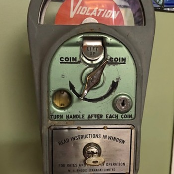 M.H. Rhodes Parking Meter - Coin Operated