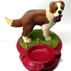 St. Bernard Chalkware Ashtray
