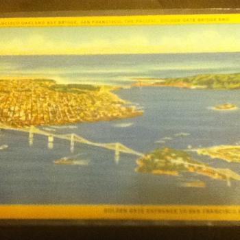 San Francisco Bay Bridge and Golden Gate Bridge Postcard - Postcards