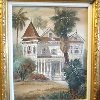Oil painting from Gospel thrift store - Fine Art