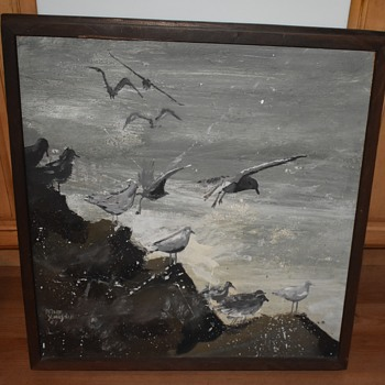 Seagulls by Dave Youngdahl '67 - MCM Painting - Fine Art