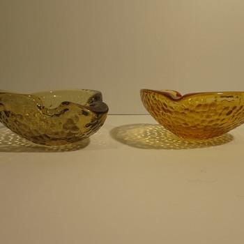 "More Mid Century ""art glass bowls"" - Art Glass"