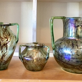 Three handle glass - Color series 3 - Art Glass