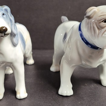 Ceramic Dog Figures - Asian