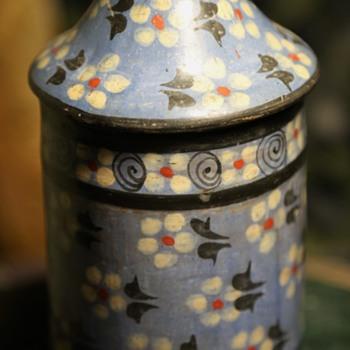 Tonala Covered Jar - unusual design and colors - Pottery