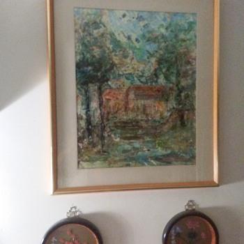 ESTHER FELDMAN STITCHERY PAINTING - Fine Art