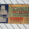Pre-20's Cardboard Trolley Car Furniture Store Advertisement Sign
