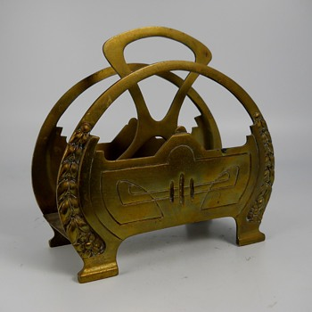 "Art Nouveau""Jugenstill"" Brass Letter Holder, Circa 1890-1900 - Art Nouveau"