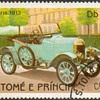 """St. Thomas & Prince Islds. """"Antique Cars"""" Postage Stamps"""