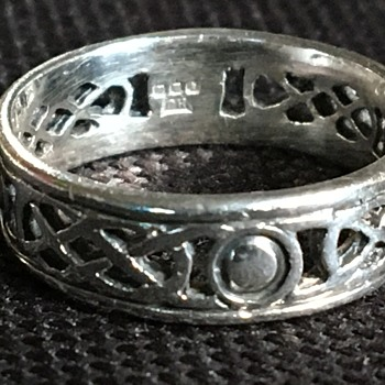 Vintage Celtic silver ring  - Fine Jewelry