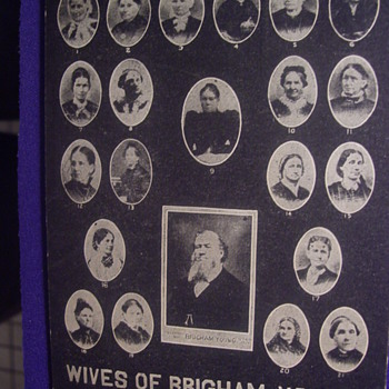 1903 BRIGHAM YOUNG, HEAD OF THE MORMON CHURCH & HIS 20 WIVES,POSTCARD FROM UTAH - Postcards