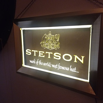 Vintage Stetson Hat sign - Signs