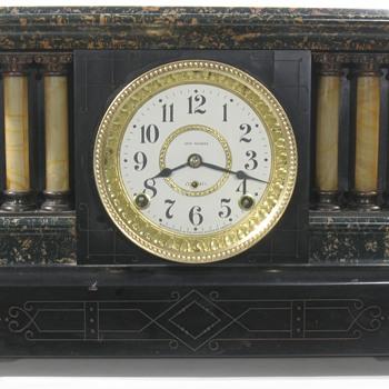 Seth Thomas Adamantine Mantel Clock - Clocks