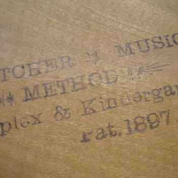 Fletcher Music Method (patent date 1897) - Music Memorabilia