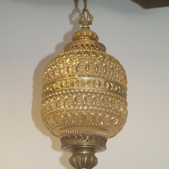 Vintage Bubble Glass Hanging Light Lamp -Trying to Identify :) - Lamps