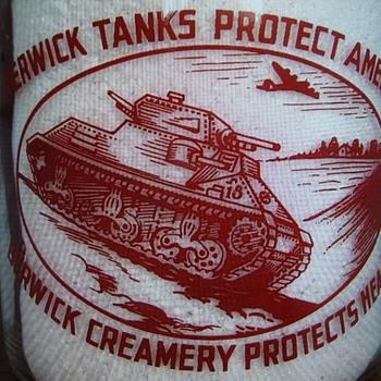 "CLEWELL'S CREAMERY...BERWICK PENNSYLVANIA...""WHERE TANKS WERE BUILT DURING WW2"" - Bottles"