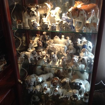some of my bulldog figurines - Figurines