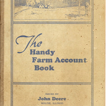 1940-41 Handy Farm Account Book by John Deere