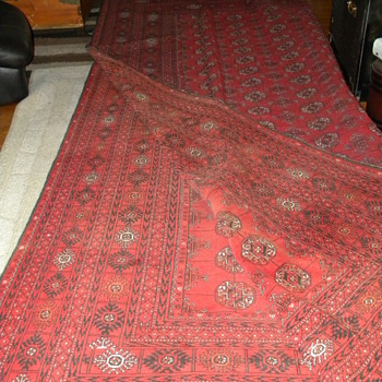Huge Red and Black Rug - Rugs and Textiles