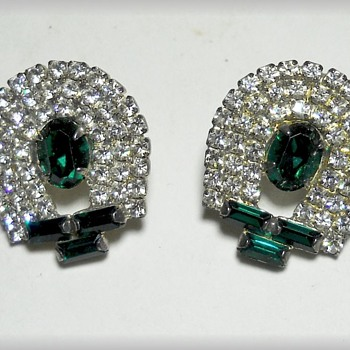 Costume Earrings - Emerald Green - Costume Jewelry
