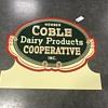 Coble Dariy sign dated 1955