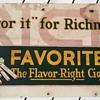 Pre - 1920's Favorite Cigarette Advertisement