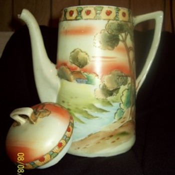 Hand,Painted,TeaPot - Kitchen