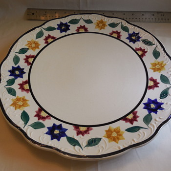 "Petrus Regout & Co. Maastricht Made In Holland 13"" Pottery Charger  - China and Dinnerware"