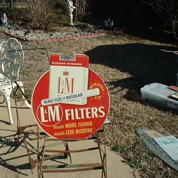 L&M Tin Sign - Advertising