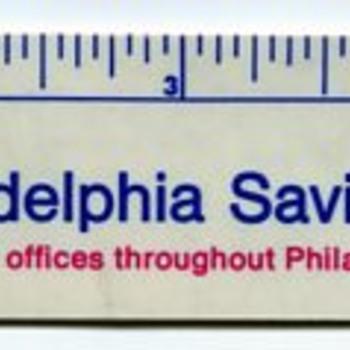 Philadelphia Savings Fund Society Pocket ruler - Advertising