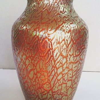 Loetz Rosa Mimosa Vase - Art Glass
