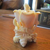 Morning Flower. Ivory snuff bottle. Signed by artist. Japanese